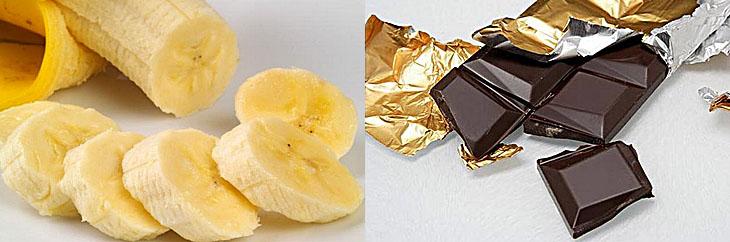 Бананы и шоколад против стресса