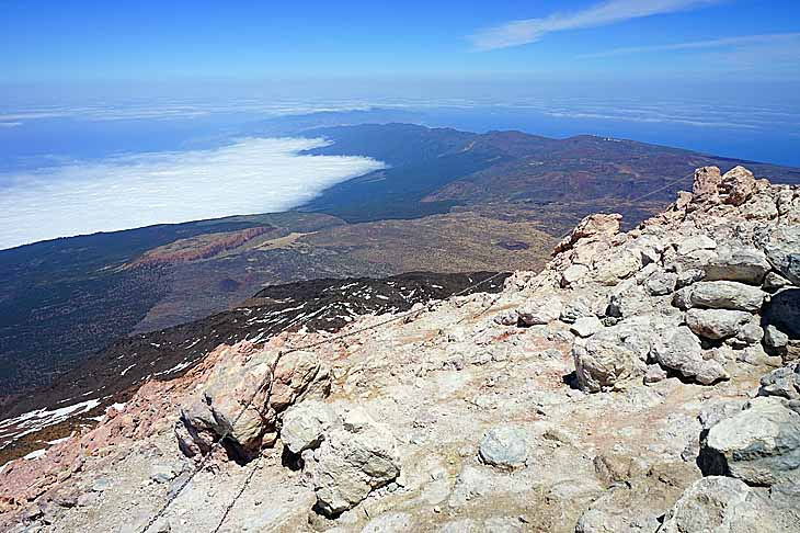 вулкан Тейде и море
